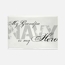 Grandpa is my Hero NAVY Rectangle Magnet