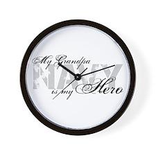 Grandpa is my Hero NAVY Wall Clock