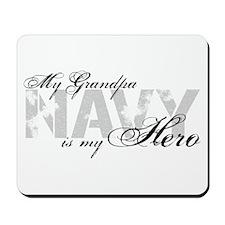 Grandpa is my Hero NAVY Mousepad