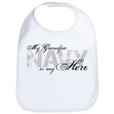 Grandpa is my Hero NAVY Bib