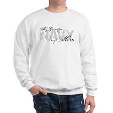 Grandpa is my Hero NAVY Sweatshirt