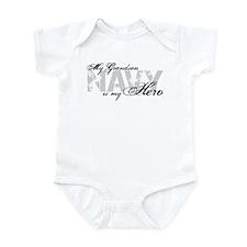 Grandson is my Hero NAVY Infant Bodysuit