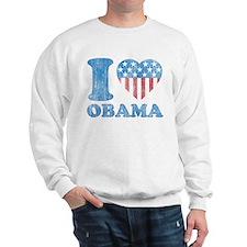 Vintage i Love Obama Sweatshirt