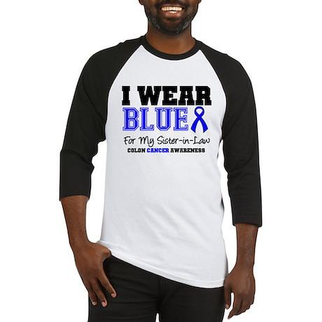 I Wear Blue Sister-in-Law Baseball Jersey
