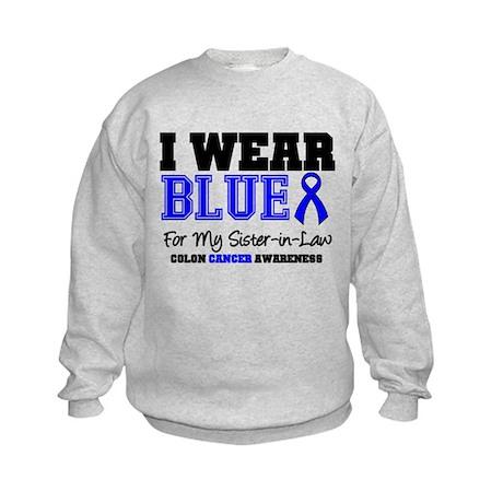 I Wear Blue Sister-in-Law Kids Sweatshirt