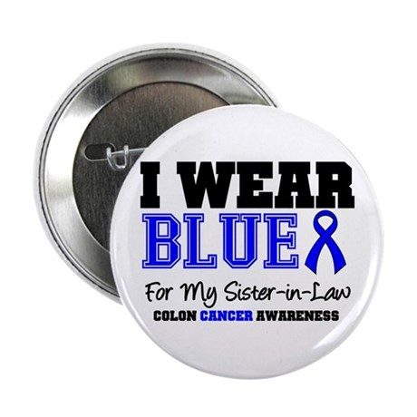 "I Wear Blue Sister-in-Law 2.25"" Button"