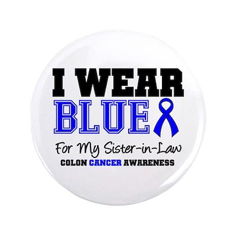 "I Wear Blue Sister-in-Law 3.5"" Button"
