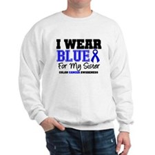 I Wear Blue Sister Sweatshirt