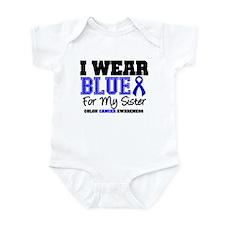 I Wear Blue Sister Infant Bodysuit