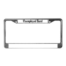 Unemployed Bard License Plate Frame