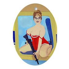 Sarah Palin Oval Ornament