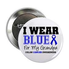 """I Wear Blue Grandpa 2.25"""" Button"""