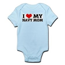 I Love My Navy Mom Infant Creeper