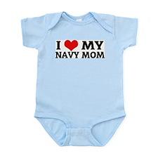 I Love My Navy Mom Infant Creeper