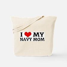 I Love My Navy Mom Tote Bag