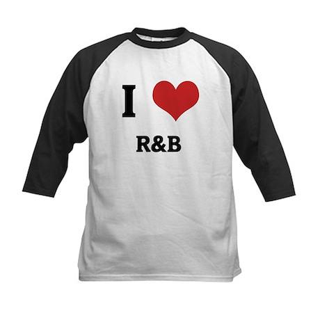 I Love R&B Kids Baseball Jersey