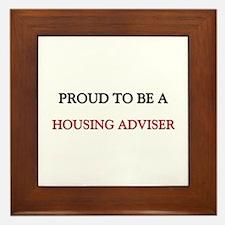 Proud to be a Housing Adviser Framed Tile