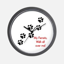 Walk all over me 2 Wall Clock