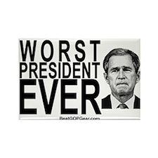 """Worst President Ever"" Rectangle Magnet (10)"