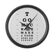 """""""Too Much Sex"""" Large Wall Clock"""
