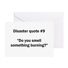 Disaster quote #9 - Greeting Card