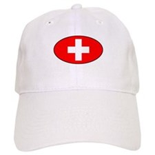 Oval Swiss Flag Baseball Cap