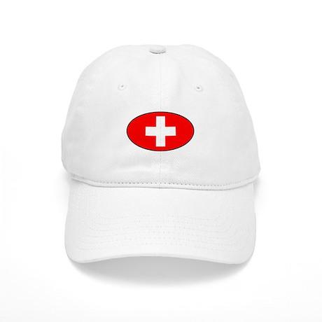 Oval Swiss Flag Cap