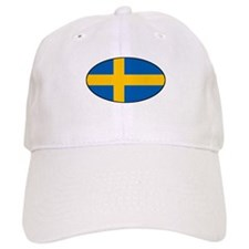Oval Swedish Flag Baseball Cap