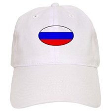 Oval Russian Flag Baseball Cap
