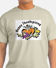 Happy Thanksgiving Ash Grey T-Shirt