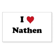 I love Nathen Rectangle Decal