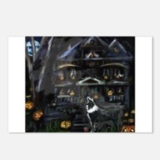 Haunted House Australian Shep Postcards (Package o