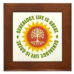 Life Is Great Framed Tile