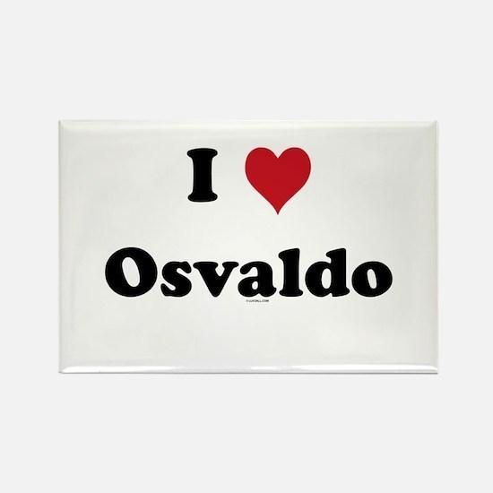 I love Osvaldo Rectangle Magnet