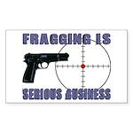 Serious Fragging Rectangle Sticker