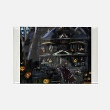 Haunted House Schipperke Rectangle Magnet