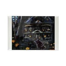 Haunted House Schipperke Rectangle Magnet (10 pack