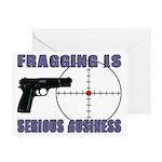 Serious Fragging Greeting Cards (Pk of 20)