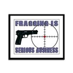 Serious Fragging Framed Panel Print