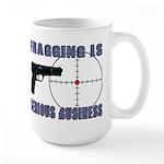 Serious Fragging Large Mug