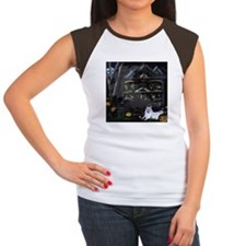 Haunted House Eskie Women's Cap Sleeve T-Shirt
