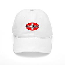 Swiss Oval Flag Baseball Baseball Cap