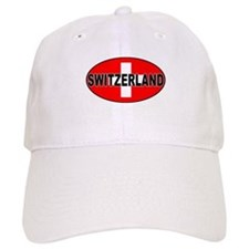 Swiss Oval Flag Baseball Cap
