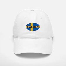 Oval Swedish Flag Baseball Baseball Cap