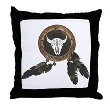American Indian Shields Throw Pillow