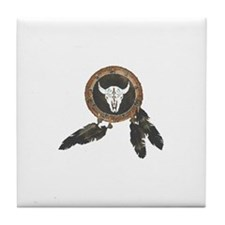 American Indian Shields Tile Coaster