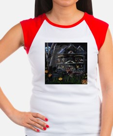 Haunted House Dachshund Women's Cap Sleeve T-Shirt