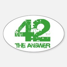 The Answer Is 42 Oval Decal