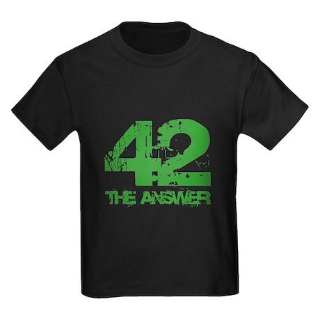 The Answer Is 42 Kids Dark T-Shirt