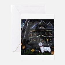 Haunted House Westie Greeting Cards (Pk of 10)